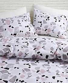 Terrazzo Printed Full/Queen Comforter Set, 3 Piece