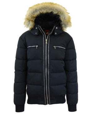 Men's Heavyweight Jacket With Detachable Faux Fur Hood