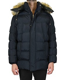 Men's Heavyweight Parka Jacket with Detachable Hood