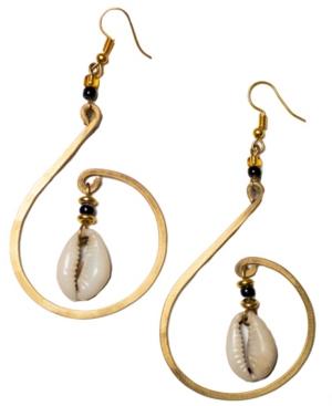 Mombasa Cowrie Shell Earrings