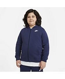 Big Boys Sportswear Club Fleece Full-Zip Hoodie (Extended Size)
