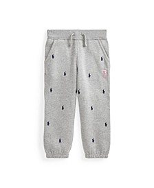 Little Boys Pink Pony Fleece Jogger Pant