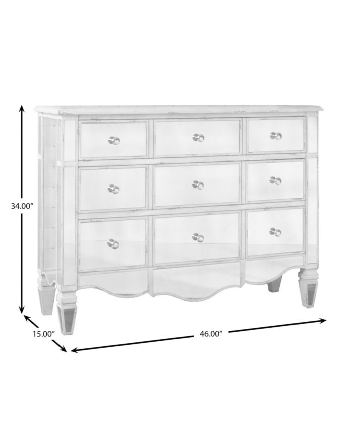 Furniture Shirley Mirrored Accent Chest & Reviews - Furniture - Macy's