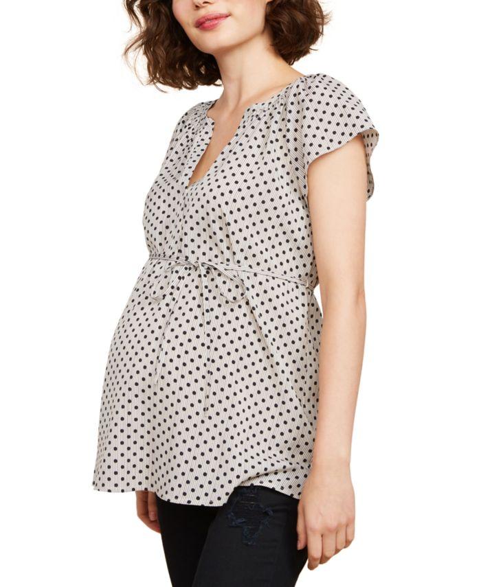 Motherhood Maternity V-Neck Top & Reviews - Maternity - Women - Macy's