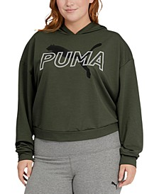 Plus Size Modern Sports Hooded Sweatshirt
