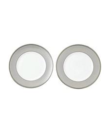 """Winter White Dinner Plate 10.6"""" Set/2 NEW"""