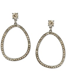 INC Silver-Tone Crystal Open Drop Earrings, Created for Macy's