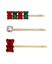 Festive Gummy Bear Bobby Pin Set