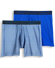 Men's 2-Pack Active Microfiber Midway Boxer Briefs