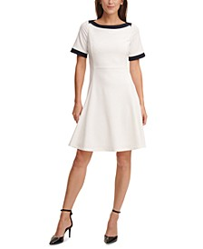 Contrast-Trim Dress