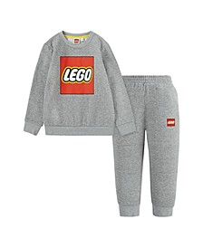 LEGO Little Boys Crewneck Sweatshirt and Joggers Set