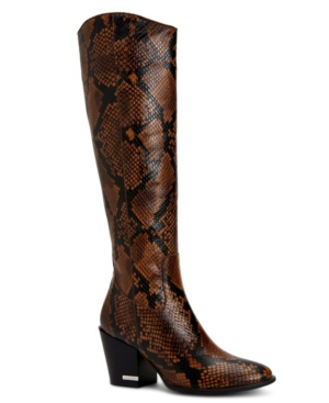 Calvin Klein MASSIE SNAKE PRINT WOMEN'S BOOT WOMEN'S SHOES