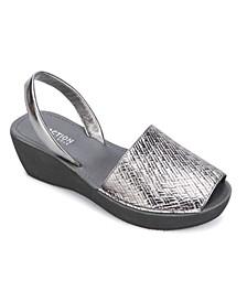 Women's Fine Glass Wedge Sandals
