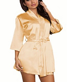 Plus Size Ultra Soft Satin Lounge and Poolside Robe