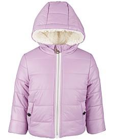 Baby Girls Plush Fleece Lined Jacket