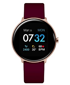 Women's Sport's Merlot Silicone Strap Smart Watch 43.2mm
