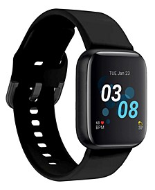 Air 3 Unisex Touchscreen Smartwatch Fitness Tracker: Black Case with Black Strap 44mm