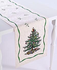"""Christmas Tree Ivory/Green 90"""" Runner"""
