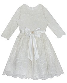 Big Girl lace skater dress with flutter sleeves