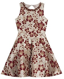 Big Girl  Brocade Pleated Dress
