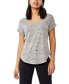 Women's Karly Short Sleeve V Neck T-shirt