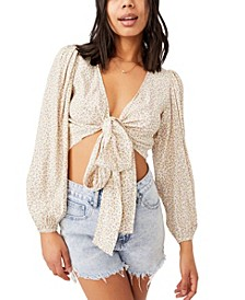 Women's Willow Puff Sleeve Wrap Blouse