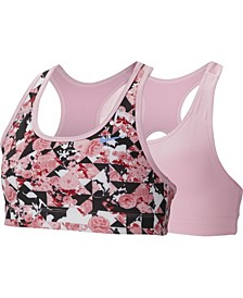 Swoosh Big Girl's Printed Reversible Sports Bra