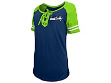 Seattle Seahawks Women's Logo Lace Up T-Shirt