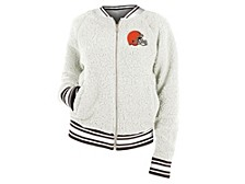 Cleveland Browns Women's Sherpa Bomber Jacket
