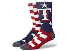 Texas Rangers Brigade Socks