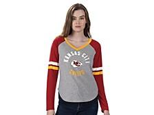 Women's Kansas City Chiefs Asterisk Long-Sleeve T-Shirt