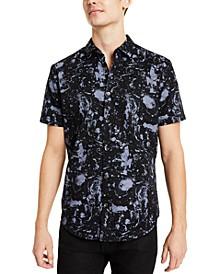 INC Men's Paint Splatter Shirt, Created for Macy's