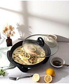 "12"" Round Nonstick Electric Skillet"