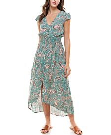 Juniors' Printed High-Low Maxi Dress