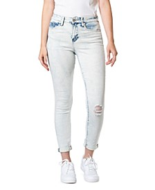 Juniors' Roll-Cuff Skinny Ankle Jeans