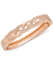 Rose Gold-Tone Pavé Braided Bracelet, Created for Macy's