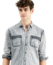 INC Men's Washed Denim Shirt, Created for Macy's