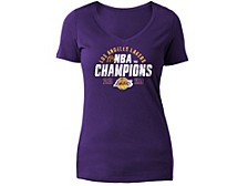 Los Angeles Lakers NBA Women's Multi-Finals Champ T-Shirt