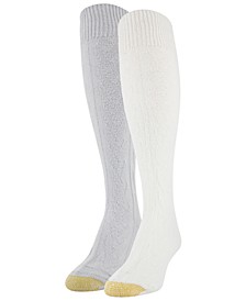 Women's Cozy Cable Knee High 2pk Socks