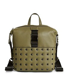 Styla Studded Leather Backpack