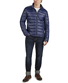 GUESS Men's Channel Quilt Hooded Puffer Jacket