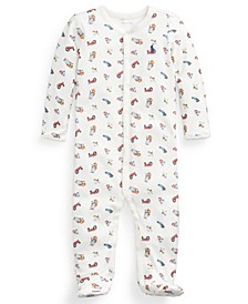 Ralph Lauren Baby Boys Farmer Bear Cotton Coverall