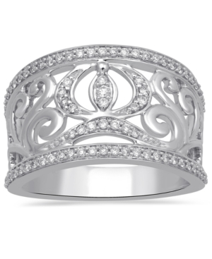 Diamond Cinderella Carriage Ring (1/3 ct. t.w.) in 14k White Gold