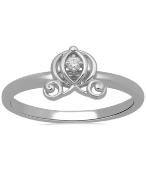 Diamond Accent Cinderella Carriage Ring in 10k White Gold