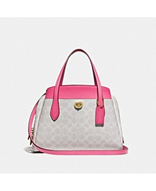 Coated Canvas Signature Lora 30 Satchel