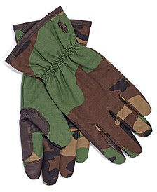 Men's Camo-Print Canvas Gloves