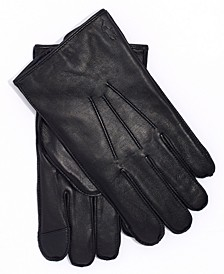 폴로 랄프로렌 장갑 Polo Ralph Lauren Mens Water-Repellant Leather Gloves,Rl Black