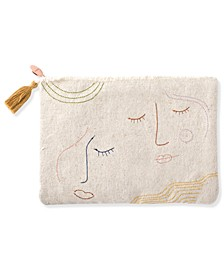 Studio Stitched Faces Canvas Pouch