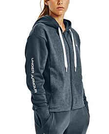 Women's Rival Fleece Embroidered Full Zip Hoodie