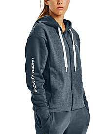 Under Armour Women's Rival Fleece Embroidered Full Zip Hoodie